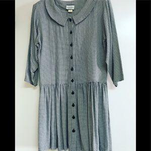 Vintage 90's grunge era drop waist dress
